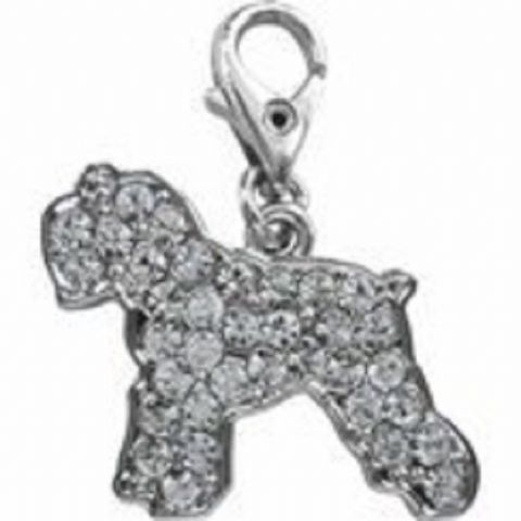 SCHNAUZER CLEAR CRYSTAL CHARM FOR BAGS PHONES JEWELLERY ETC